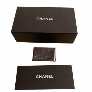 Chanel sunglass box and black cloth wipe